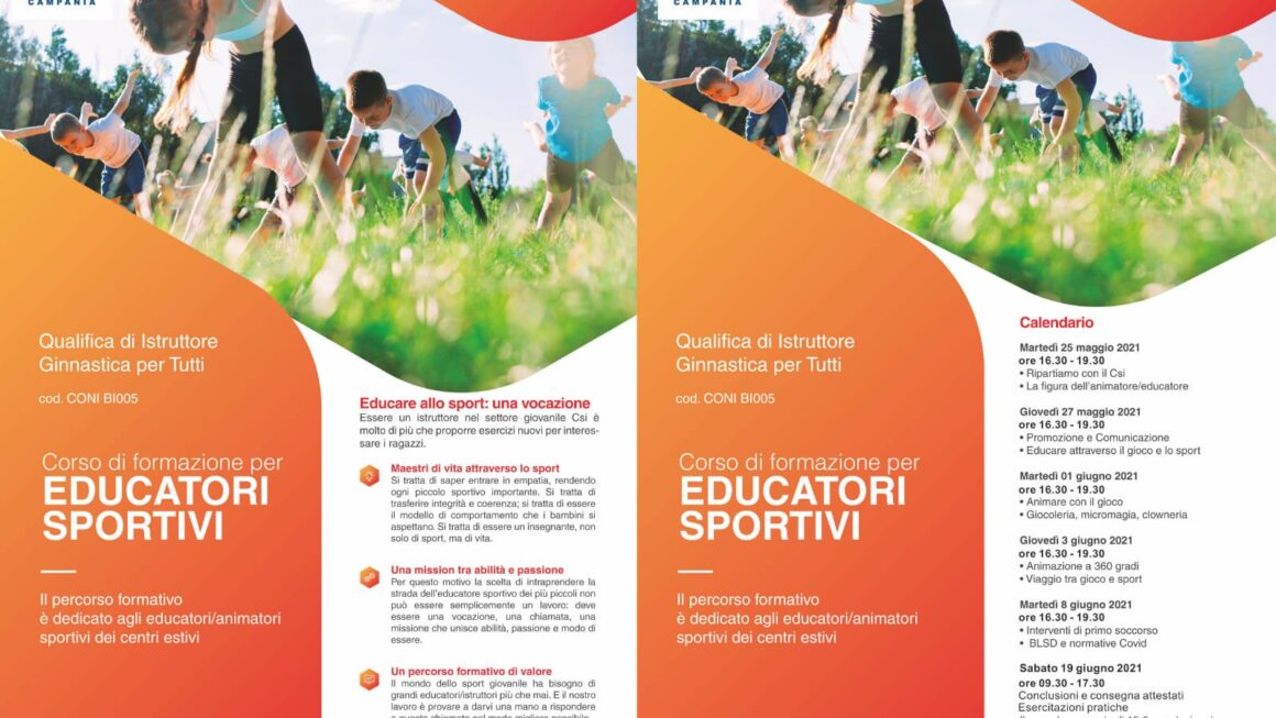 CORSO DI FORMAZIONE PER EDUCATORI SPORTIVI
