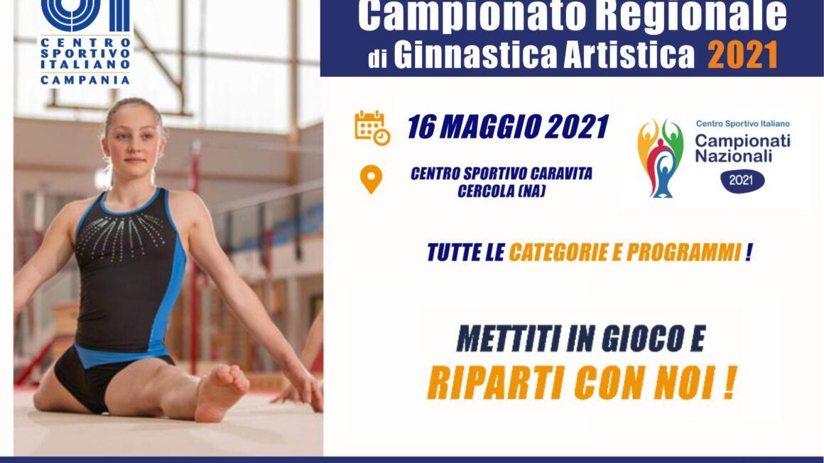 CAMPIONATO REGIONALE DI GINNASTICA ARTISTICA 2021 – 2^ PROVA